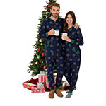 Wembley Snowflake Couples Mens Fleece Long Sleeve One Piece Pajama