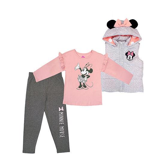 Disney Toddler Girls Minnie Mouse 3-pc. Pant Set