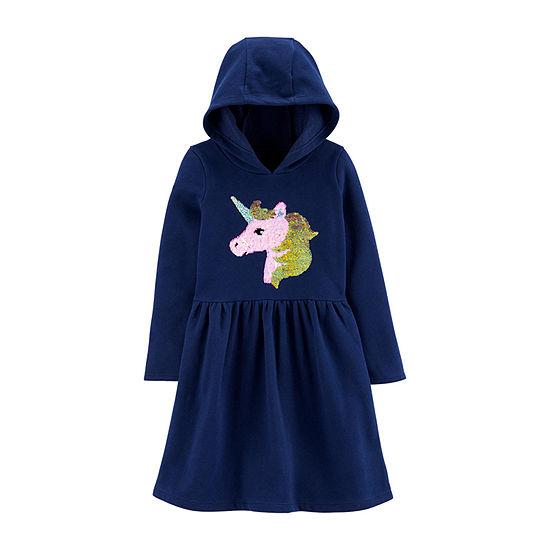 Carter's Girls Long Sleeve A-Line Dress - Preschool / Big Kid