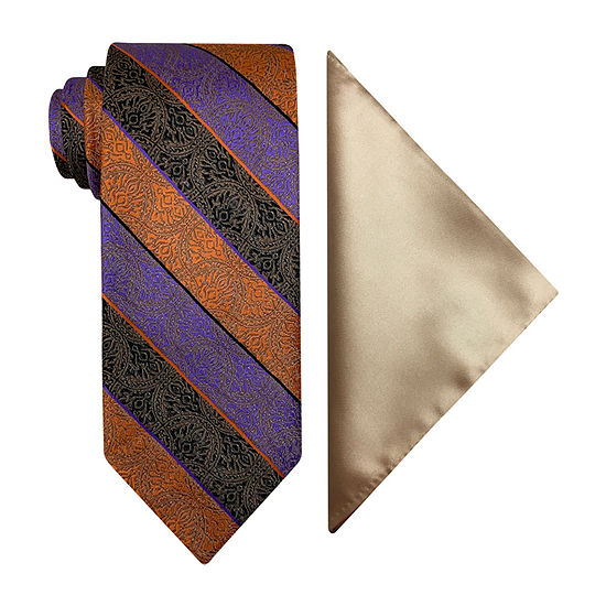 Steve Harvey Paisley Tie Set