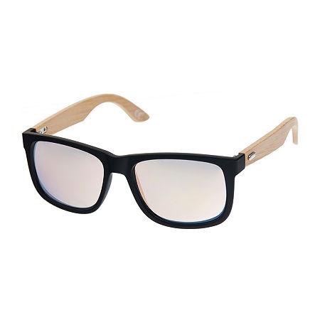 Arizona Mens Full Frame Square Sunglasses, One Size , Yellow