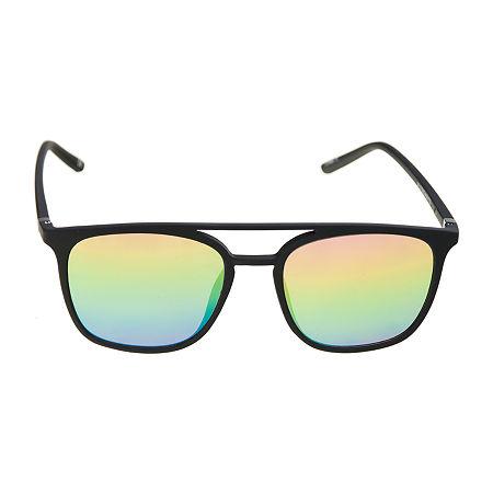 Arizona Mens Full Frame Square Sunglasses, One Size , Multiple Colors