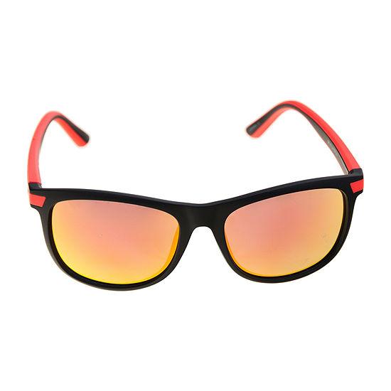 Arizona® Rubbererized Red Temple Sunglasses