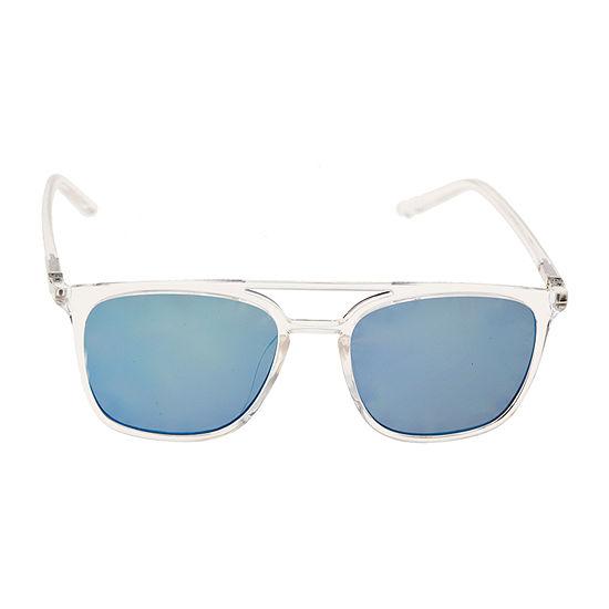 Arizona® Clear Frame Square Sunglasses