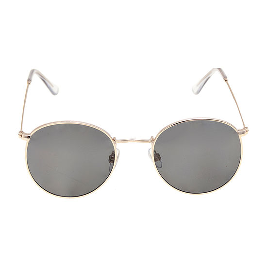 JF J.Ferrar® Gold Round Sunglasses