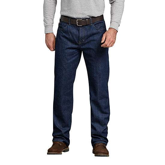 Dickies®Relaxed Straight Fit Flannel-Lined Denim Jeans