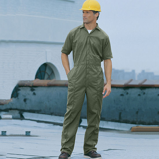 Sweet Company Short Sleeve Workwear Coveralls-Big and Tall