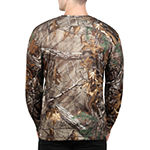 Realtree Mens Crew Neck Long Sleeve Graphic T-Shirt