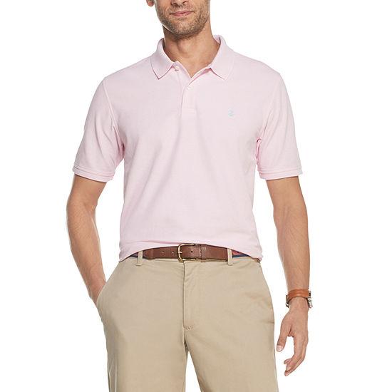 IZOD Mens Advantage Performance Short Sleeve Solid Polo