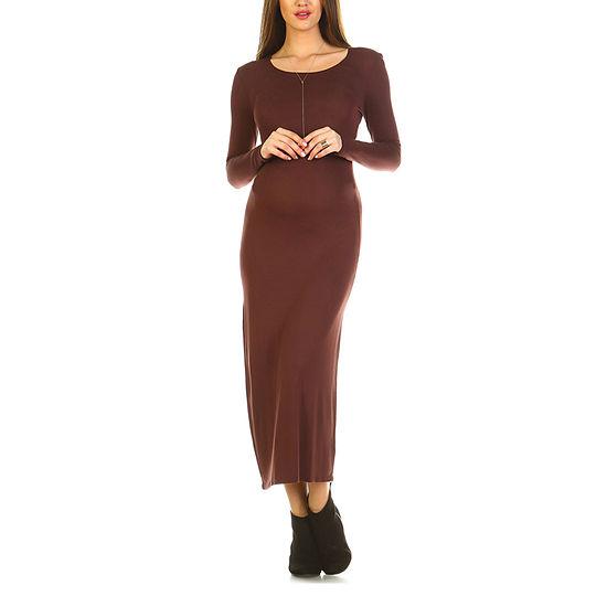 White Mark Maternity 'Penelope' Maxi Dress - Plus