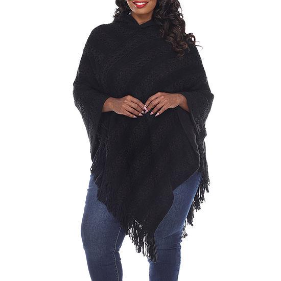White Mark Casandra Womens Long Sleeve Poncho Plus
