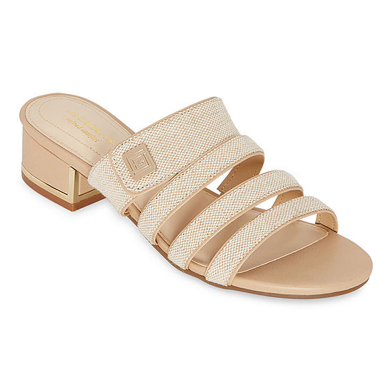 Liz Claiborne Womens Orville Heeled Sandals