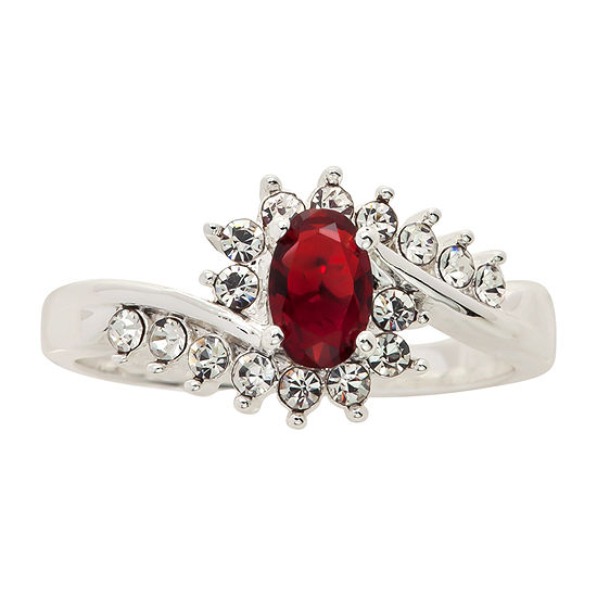 Sparkle Allure Crystal Oval Cocktail Ring