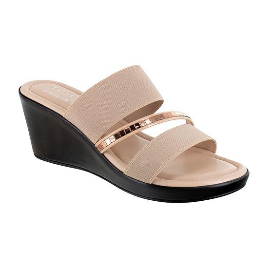 Easy Street Womens Monaco Wedge Sandals