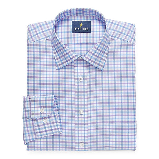 Stafford Mens All Season Coolmax Mositure Wicking Dress Shirt