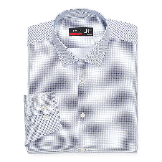 JF J.Ferrar Mens Coolmax Spread Collar Long Sleeve Stretch Moisture Wicking Big and Tall Dress Shirt