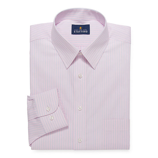 Stafford Mens Wrinkle Free, Comfort Stretch, Stain Repel, Super Shirt Dress Shirt