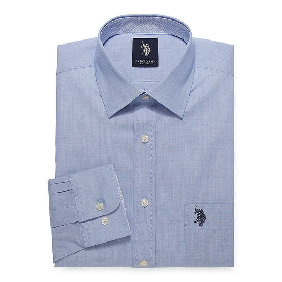 U.S. Polo Assn. - Slim Mens Spread Collar Long Sleeve Stretch Dress Shirt