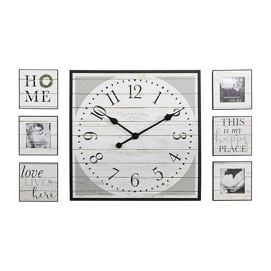 Firstime Shiplap Gallery Set Wall Clock