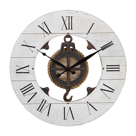 Firstime Shiplap Pulley Wall Clock