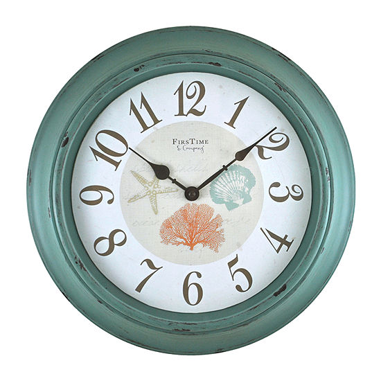 Firstime Turquoise Shells Wall Clock