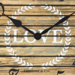 Firstime Love Pallets Wall Clock
