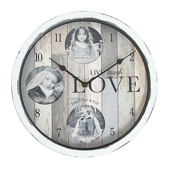 Firstime Rustic Expressions Frame Wall Clock