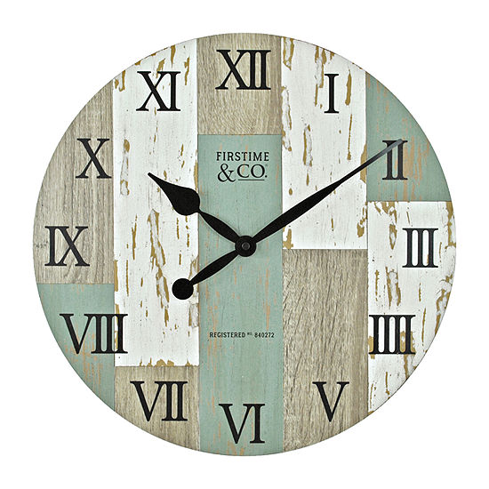 Firstime Coastal Cottage Wall Clock