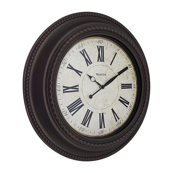 "Westclox 20"" Round Decorative Wall Clock"