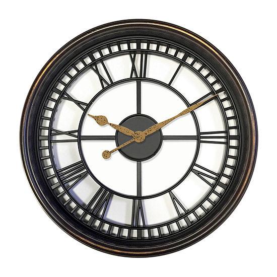 "Westclox 20"" Round Roman Numeral Wall Clock"