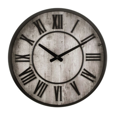 """Westclox 15"""" Rustic Wall Clock"""