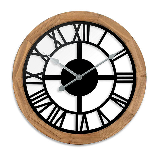 "Westclox 15"" See Through Wood Wall Clock"