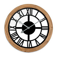 Westclox 15″ See Through Wood Wall Clock, One Size , Brown