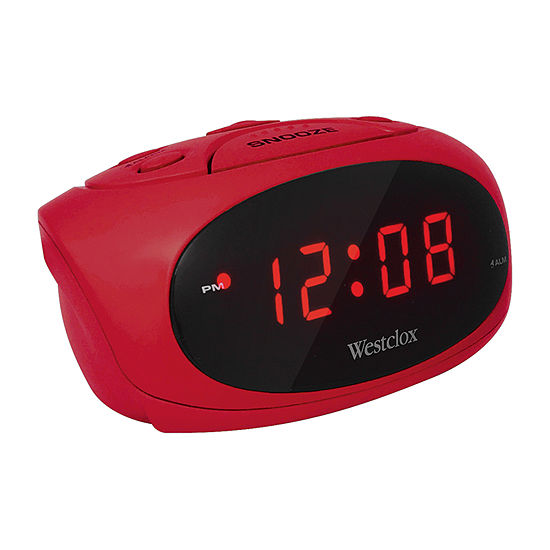 Westclox Red Led Display Alarm Clock