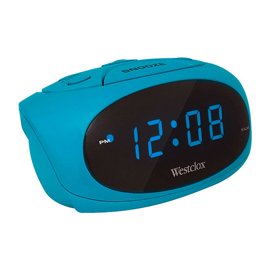 Westclox Teal Led Display Alarm Clock