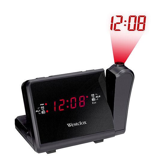 Westclox Red Led Dual Radio Clock