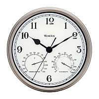 Westclox 12″ Indoor And Outdoor Wall Clock, One Size , Silver