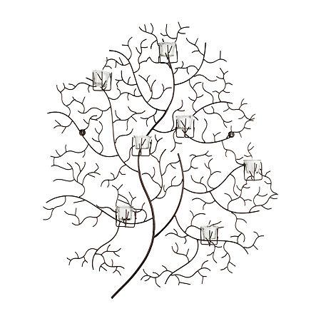 Safavieh Tea Light Trees + Leaves Metal Wall Art