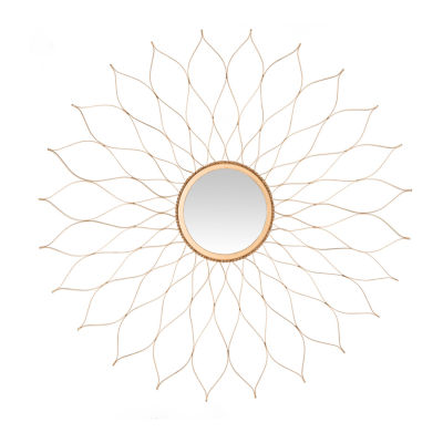 Safavieh Flower Gold Wall Mount Sunburst Wall Mirror