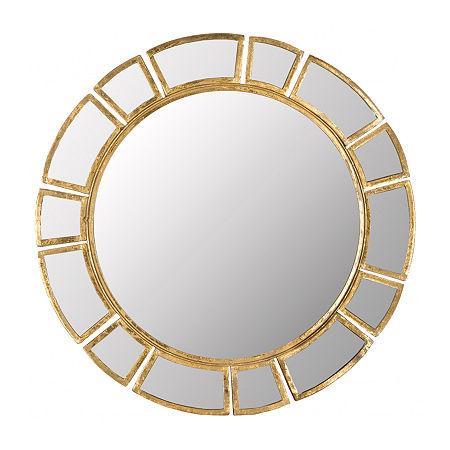 Safavieh Deco Antique Gold Wall Mount Sunburst Decorative Wall Mirror