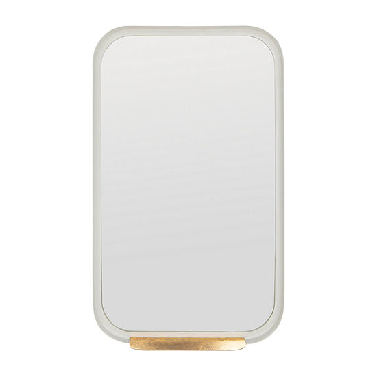 Safavieh Amabel Ledge Gold/White Wall Mount Rectangular Wall Mirror