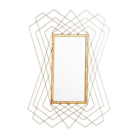 Safavieh Hazelton Gold Foil Wall Mount Rectangular Decorative Wall Mirror