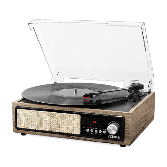 Victrola VTA-67 3-in-1 Bluetooth Record Player with Built-in Speakers and 3-Speed Turntable