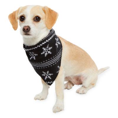 Holiday #FAMJAMS Black Fairisle Foil Family Pet Bandana