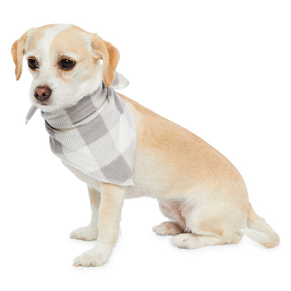 Holiday #FAMJAMS Grey and Black Buffalo Family Pet Bandana -Pet