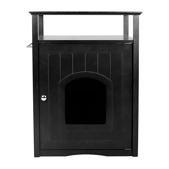 Zoovilla Cat Washroom Litter Box Cover / Night Stand Pet House