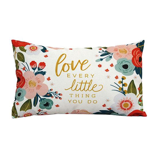 Stratton Home Decor Love Every Rectangular Throw Pillow