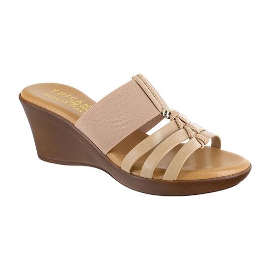 Easy Street Womens Rosmunda Wedge Sandals