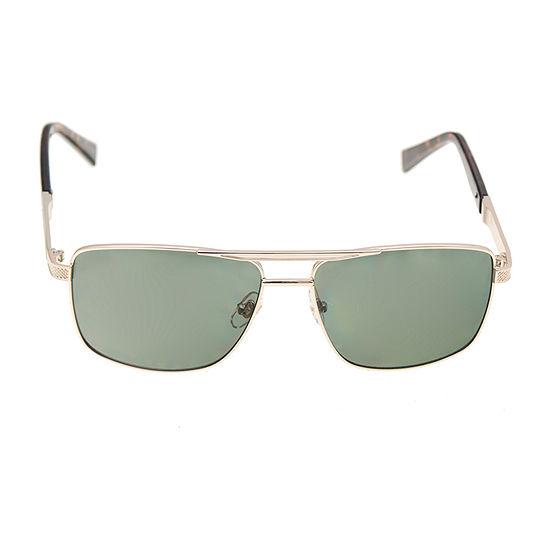 Dockers Mens Polarized Full Frame Rectangular Sunglasses