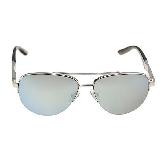 Dockers® Silver Aviator Sunglasses